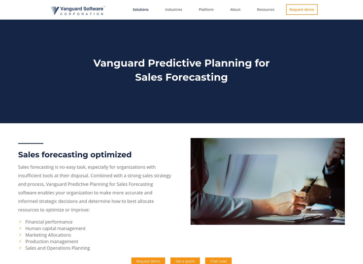 Vanguard - Sales Predictive Software