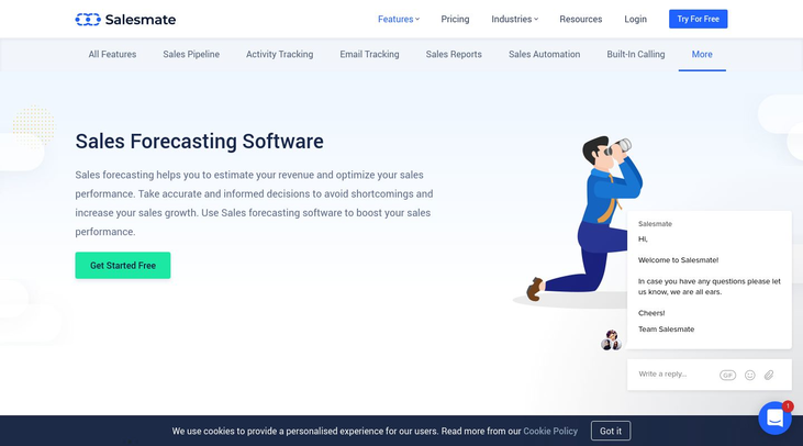 SalesMate - Sales Forecasting Software