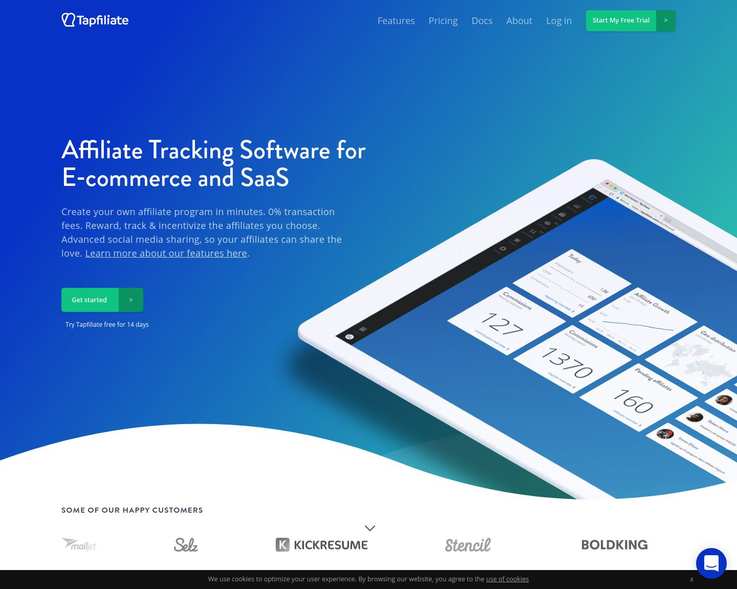 Tapfiliate - Affiliate Tracking Software