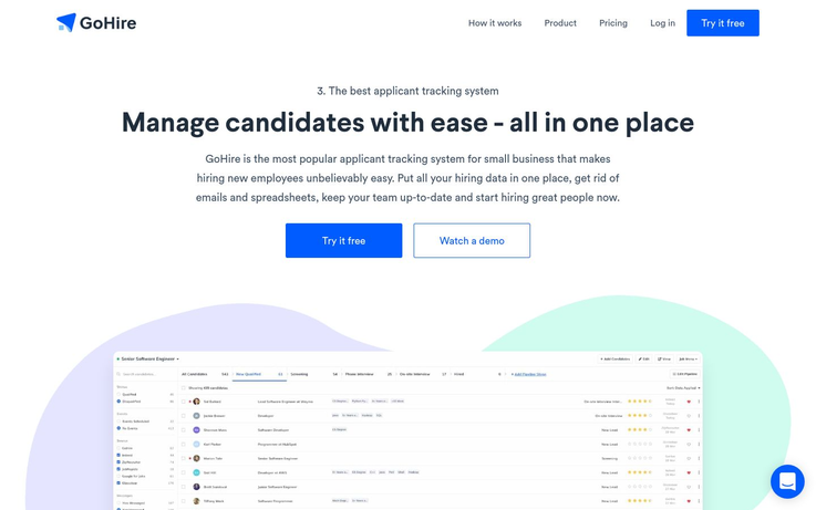 GoHire - Applicant Tracking Software