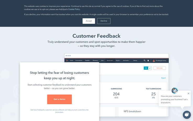 HubSpot - Customer Feedback Software