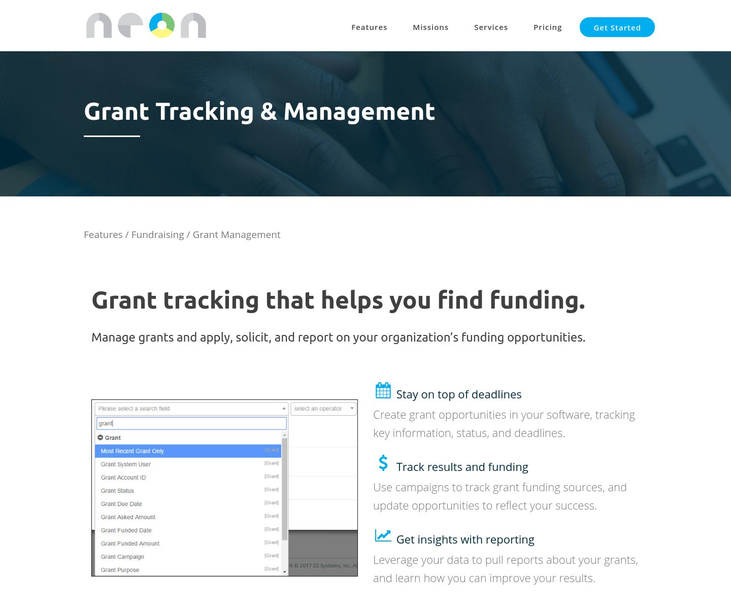 NeonCRM - Grant Management Software