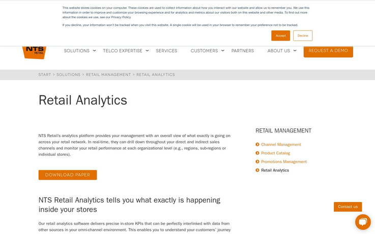 NTS Retail - Best Retail Analytics Software