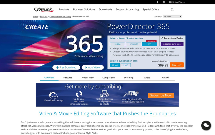 Power Director 365 - Video Editing Software