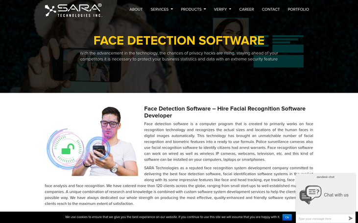 Sara Technologies - Best Face Recognition Software