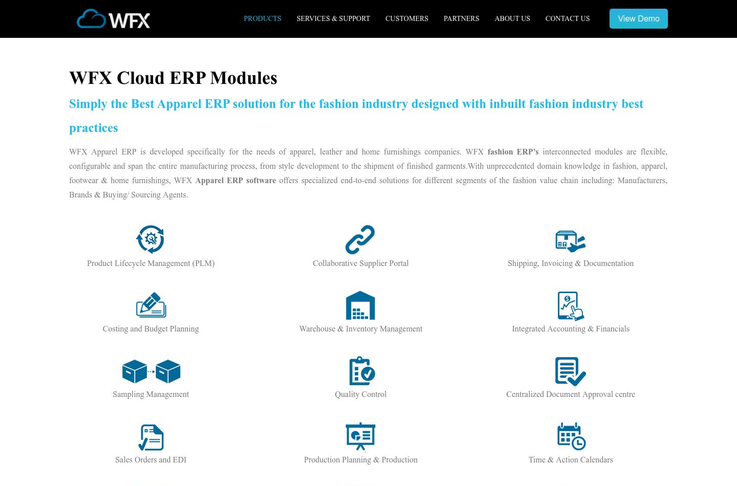 WFX Cloud - Apparel Management Software