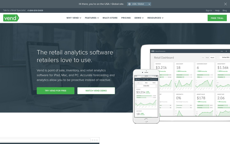 Vend - Best Retail Analytics Software