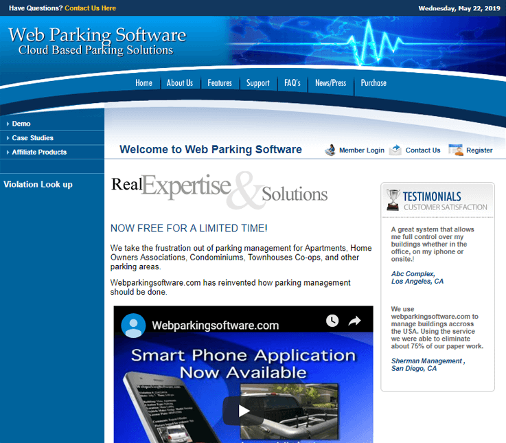 Web Parking Software