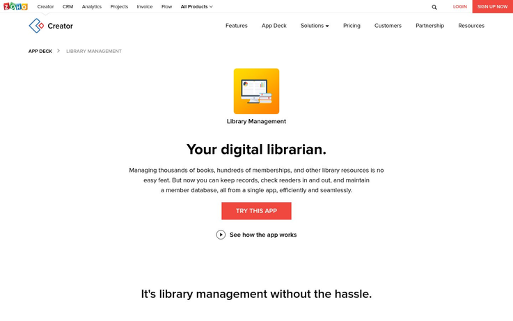 Zoho Library Management