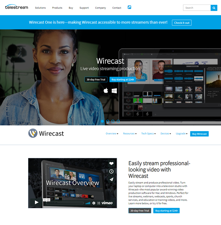 Wirecast - Live Streaming Software