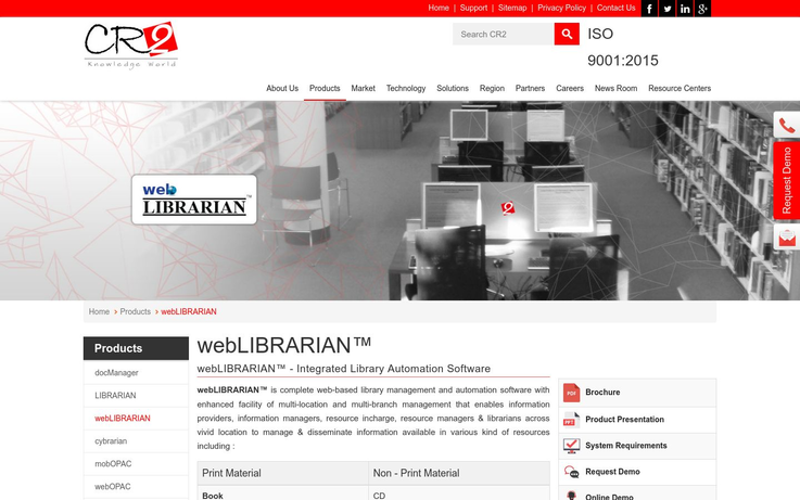 webLIBRARIAN - Library Management Software