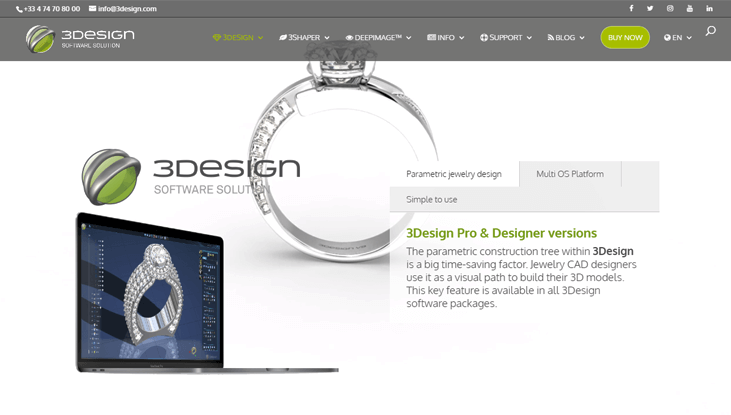 3Design - Jewelry Designer Software