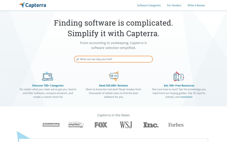 Capterra - Software Review Sites