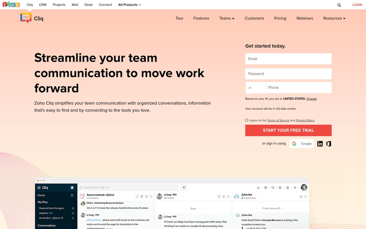 Zoho Cliq - Employee Communication Software