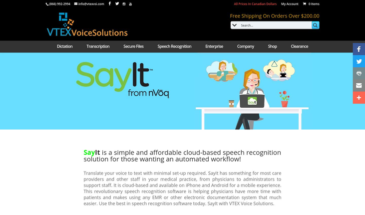 VTEX Voice Solutions SayIt