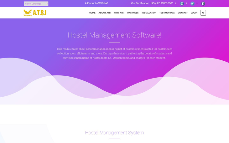 A.T.S.I. Hostel Management Software