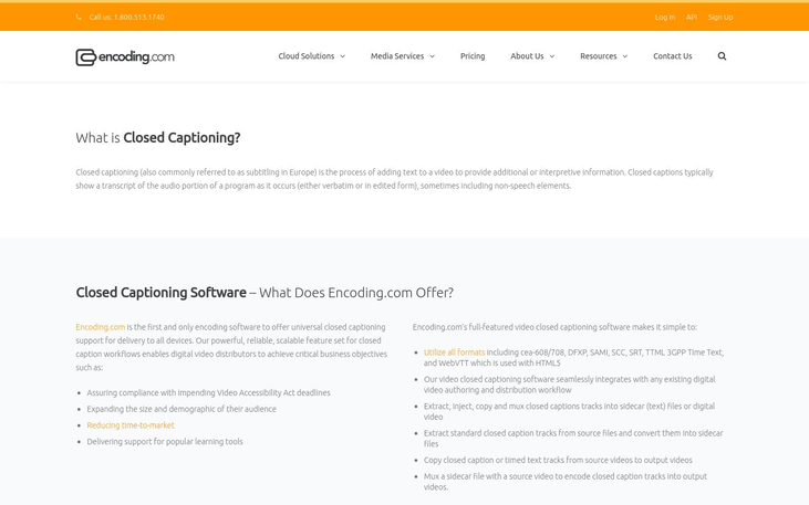 Encoding.com - Closed Captioning Software