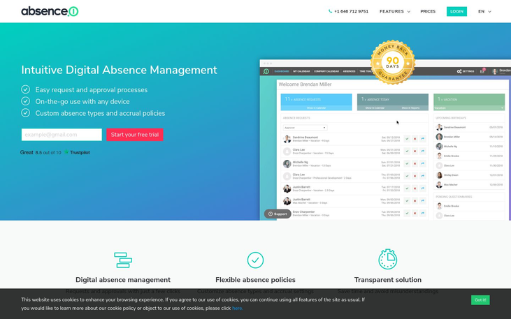 Absence.io - Absence Management Software