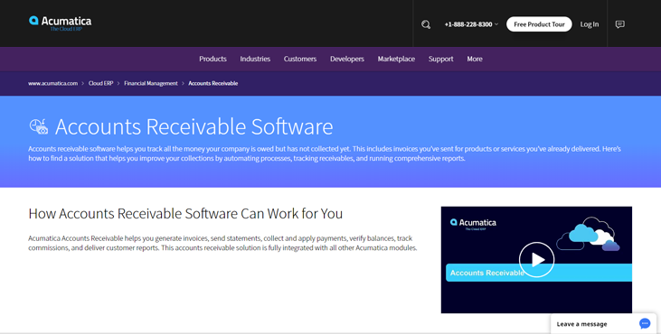 Acumatica - Accounts Receivable Software