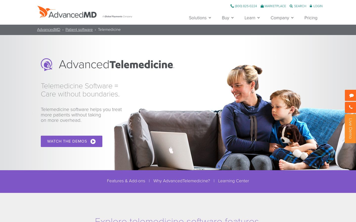 AdvancedMD - Telemedicine Software