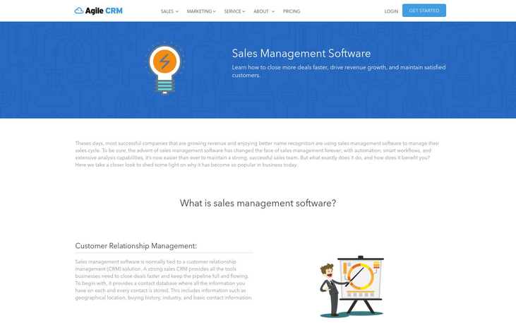 Agile CRM Sales Management Software