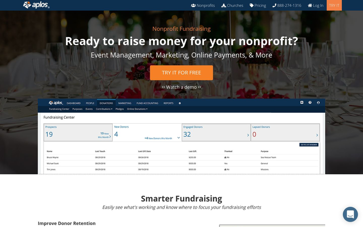 Aplos - Fundraising Software