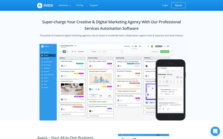 Avaza - Marketing Agency Software