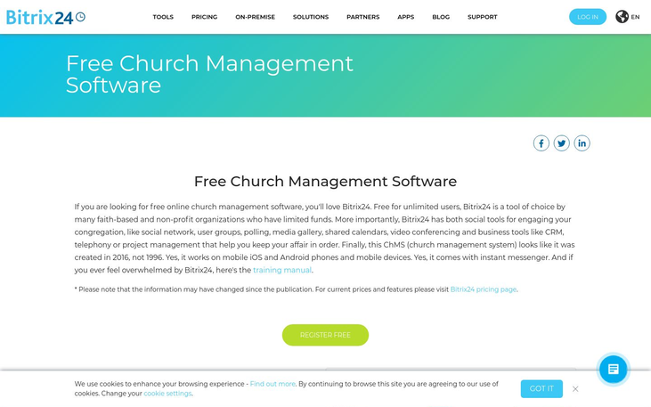 Bitrix24 - Church Management Software