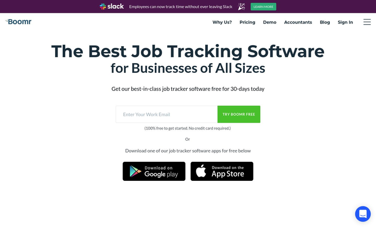 Boomr - Job Tracking Software