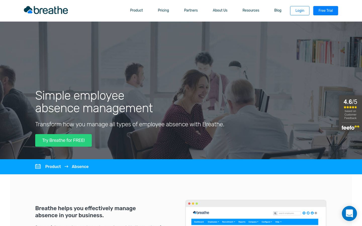 Breathe - Absence Management Software