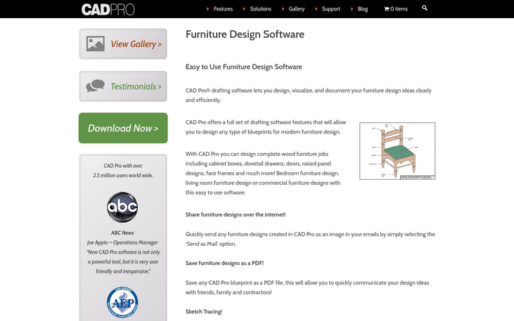 CAD Pro - Furniture Design Software