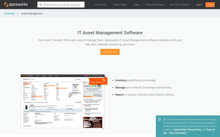 Spiceworks - IT Asset Managment Software