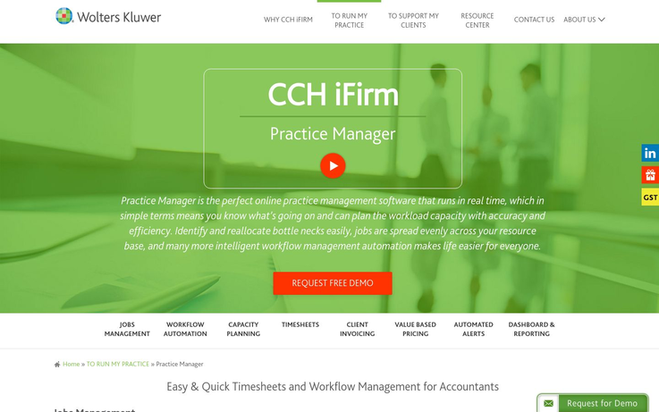 CCH iFirm - Accounting Practice Management Software