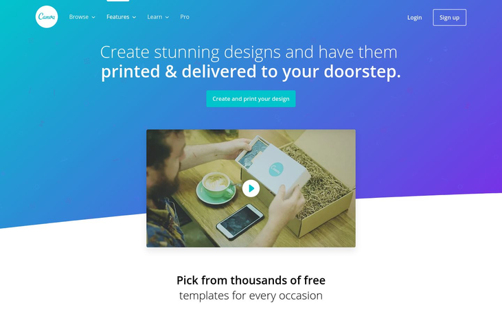 Canva - Photo Printing Software