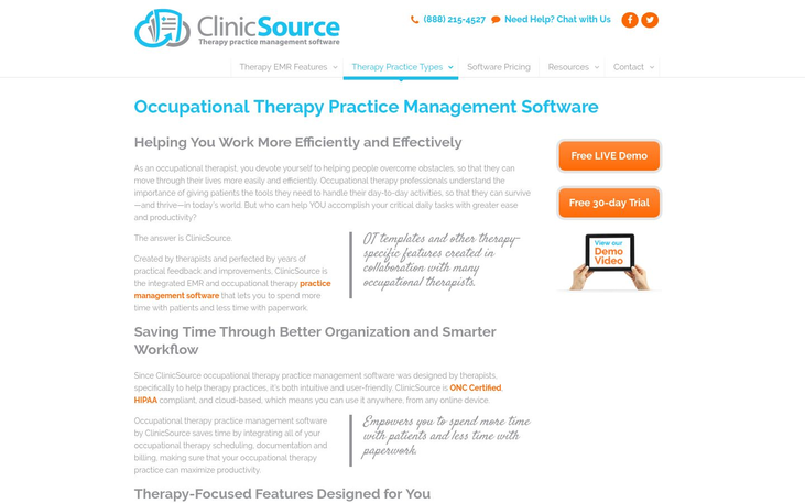 ClinicSource - Occupational Therapy Software