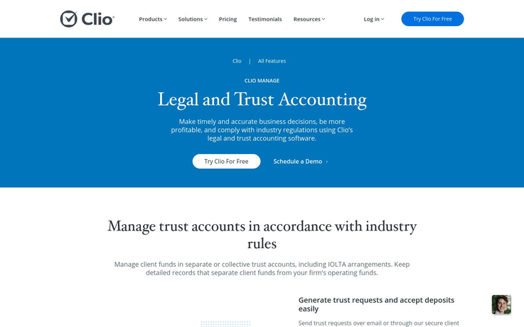 Clio - Trust Accounting Software