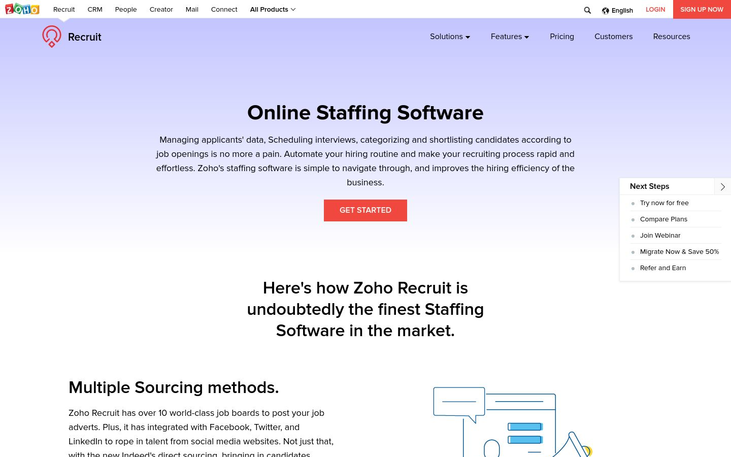 Zoho Recruit - Staffing Agency Software