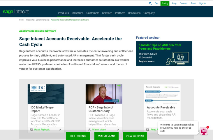 Sage Intacct - Accounts Receivable Software