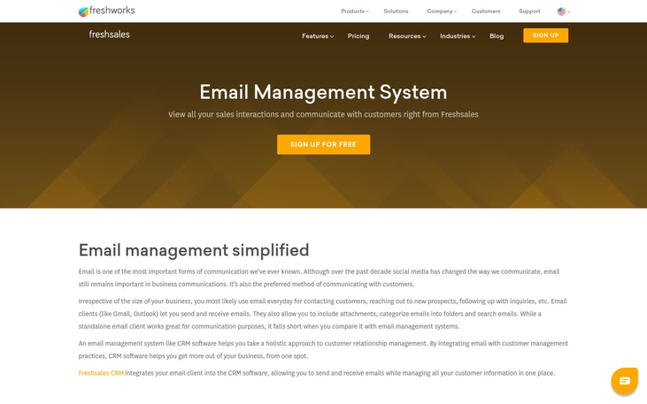 FreshSales - Email Management Software