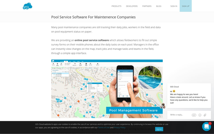 GIS Cloud - Pool Service Software