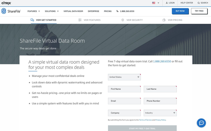 Citrix ShareFile - Virtual Data Room Software