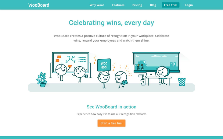 WooBoard - Employee Recognition Software