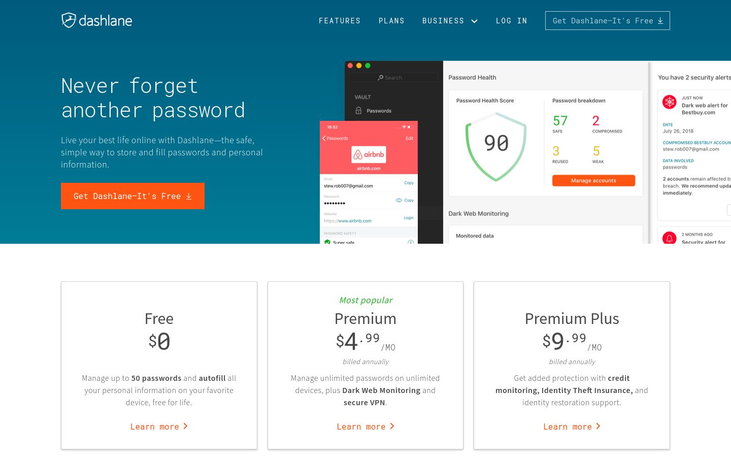 Dashlane - Password Management Software