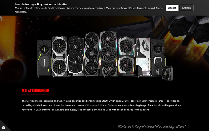 MSI Afterburner - Overclocking Software