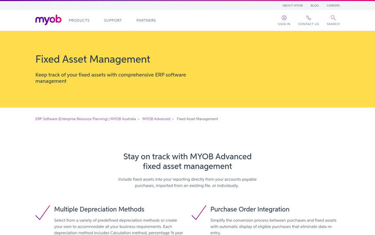 MYOB - Fixed Asset Software