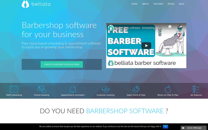Belliata - Barbershop Software