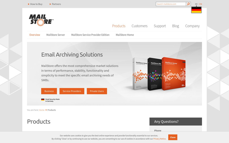 MailStore Server - Email Archiving Software