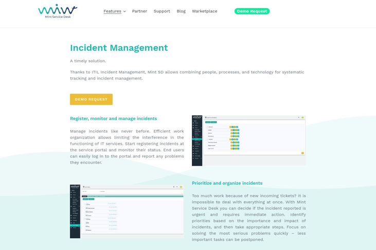 MInt Service Desk - Incident Reporting Software