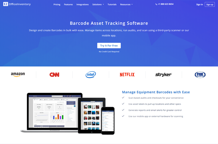 EZOfficeInventory - Asset Tracking Software