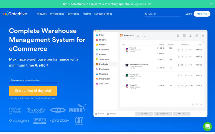 OrderHive - Warehouse Management Software